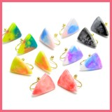 Triangle Color Hall Pierced Earring