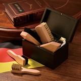 ドイツ産ブナ材シューシャインセット検索ワード/名入可  靴磨きセットブラシセット ギフト 記念品