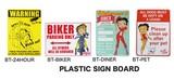 ベティちゃんのプラスチックサインプレートでアメリカナイズ!【BETTY PLASTIC SIGN BOARD】