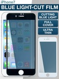 【iPhone7】まぶしいブルーライトをカット! フェイスフルカバー ブルーライトカットフィルム