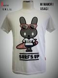 【メンズ】2017新作 見守りウサギ キャラクタープリントTシャツ<大きいサイズあり>