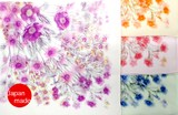 横浜シルクプチスカーフ 4055-6006 【日本製】ボタニカル小花