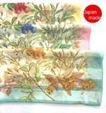 横浜シルクスカーフ4008-9074【日本製】全面花柄