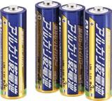 010410 単3 アルカリ乾電池 4P