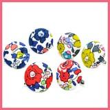 Retro Flower Pattern Walnut Button Earring