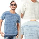 2017 S/S Men's Jacquard Short Sleeve Knitted