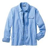 【メンズ】麻混素材シャツジャケット 【大きいサイズも展開】