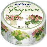 マスキングテ−プ Fujico花瓶の花ピンク 日本製