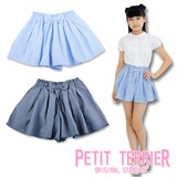 2017 S/S for School Chambray Pleats Culotte S/S
