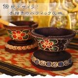 伝統デザイン!手描きのバティック灰皿【バティックデザイン灰皿】アジアン雑貨