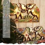 煌びやかに輝く…華やかさ満点ディスプレイ【ぞうさん壁掛けディスプレイ】アジアン雑貨