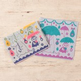 【ムーミン】<タオルハンカチ>ステキな雨