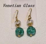 Italy Glass Handmade Pierced Earring Italia Venetian Glass