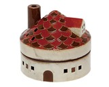 Mosquito Coil Stand House Round Red