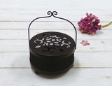 Mosquito Coil Stand Flower Regular Black