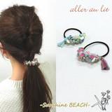 """【aller au lit】-Sunshine BEACH-""""シェル×タッセル""""マルチパーツゴムポニー"""