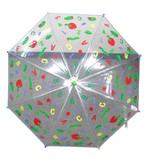 ◆新作◆【はらぺこあおむし】子供用雨傘 総柄ビニール傘 ビニールプリント