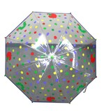 ◆新作◆ 【はらぺこあおむし】子供用雨傘 ビニール傘  ビニール水玉