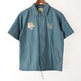 2017 S/S Denim Embroidery Short Sleeve Shirt