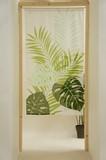Japanese Noren Curtain Hawaiian Monstera Leaf