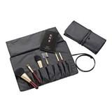 <ヘルシー&ビューティ><化粧筆>熊野化粧筆セット 筆の心 ブラシ専用ケース付き KFi-R156