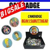 大セール!!ビーバス&バッドヘッド USAキャラクター缶バッジ♪※アメリカライセンス商品です。