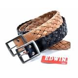 EDWIN メッシュ編込みベルト /エドウィン メンズ 牛革 ベルト EDWIN
