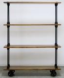 Wooden 4 Steps Rack