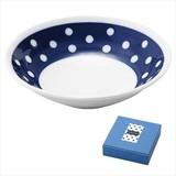 藍丸紋・盛鉢1P/日本製 キッチン 軽量 お洒落 ギフト ノベルティ