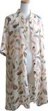 Print Stand Color Long Shirt One-piece Dress Cardigan