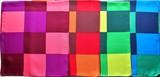 横浜シルクタイスカーフ1013-1369【日本製】チェック幾何
