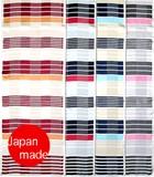 横浜シルクタイスカーフ 4015-3108【日本製】幾何ストライプ