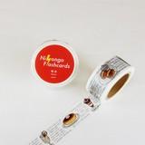 ラウンドトップ ニホンゴフラッシュカード マスキングテープ 喫茶 NF-MK-004