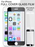 【iPhone7/6s/6】フェイスフルカバー ガラスフィルム 薄型デザイン 飛散防止 ブラック