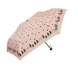 ◆新作◆ 【エルソポ】婦人用折りたたみ雨傘 親子ねこ
