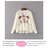 2017 S/S Embroidery Design Pullover Blouse