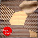 Yokohama Silk Scarf Stripe Geometric Design