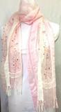 ビーズ刺繍ストール 802-2小花シルクレーヨンオンブレー