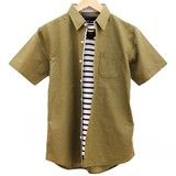 綿麻半袖シャツ&ブロード半袖Tシャツ アンサンブル