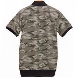 迷彩柄半袖MA-1ジャケット&クルーネック半袖Tシャツ アンサンブル