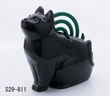 Ornament Interior Cat Silhouette Sit Mosquito Coil Stand