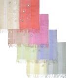 ビーズ刺繍ストール 1926-1花サラサ