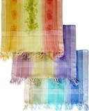 ビーズ刺繍ストール 1946-21 花シルクレーヨンオンブレー