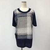 Japanese Style Checkered Switching Short Sleeve Tunic