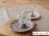 【限定品/セール品】【美の小物】花づくし二柄お香セット/優花・はなやか/皿:径9x1cm/MADE IN JAPAN