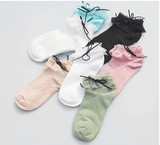 【春夏新作socks】ソックス 靴下 綿混  爽やか ゆったりクチゴム 婦人