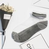 【春夏新作socks】通気性が良くシースルーソックス 爽やか 個性有り ゆったりクチゴム 婦人