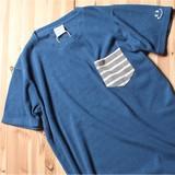 【2017SS新作】【即納商品】ナノテック加工 カイルアベイ パイル BORDER POCKET 半袖Tシャツ