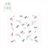 四季のガーゼハンカチ(きんぎょ)/日本製 四季 ギフト ノベルティ 景品