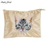 Legato Largo American Shorthair Cat Embroidery Clutch Bag